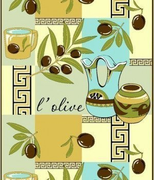 Полотенце вафельное Оливки желтое 50х70