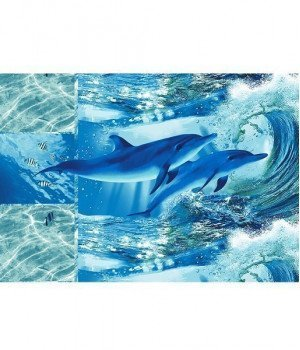 Полотенце вафельное Дельфинарий 100х150