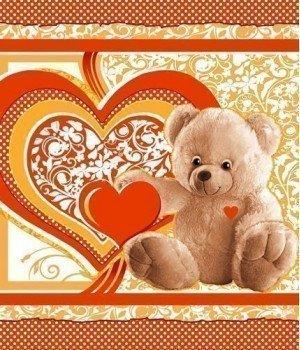 Полотенце вафельное Пора любви 2 оранжевое 47х60