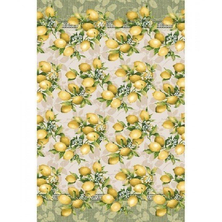 Полотенце вафельное Лимоны 100х150