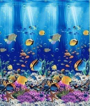 Полотенце вафельное Подводный мир 1 100х150