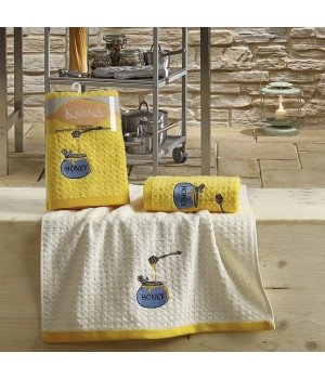 "Кухонные полотенца ""KARNA"" LEMON Желтый V3 45x65 1/2"