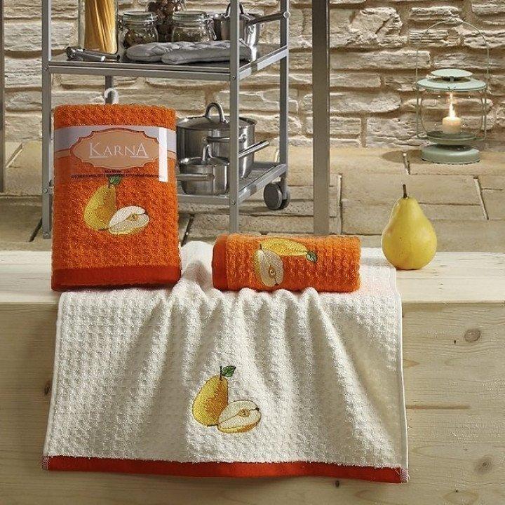 """Кухонные полотенца """"KARNA"""" LEMON Оранжевый V3 45x65 1/2"""