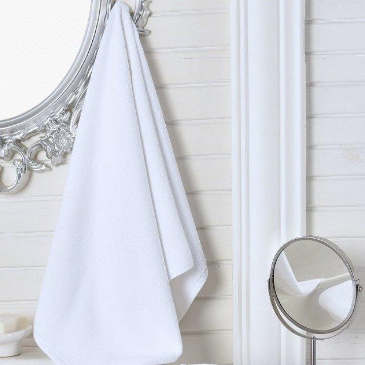 """Полотенце махровое гостиничное """"KARNA"""" Белое 100x150"""
