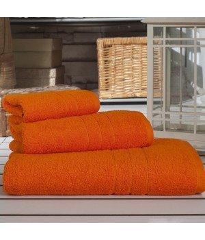 "Полотенце махровое ""KARNA"" ARES Оранжевое 70х140"