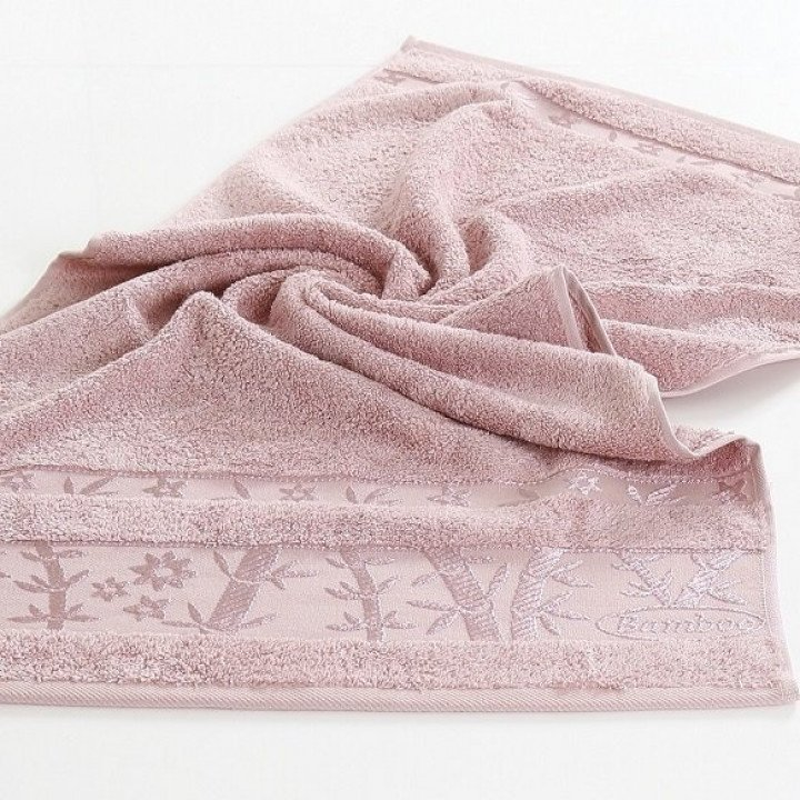"Полотенце бамбуковое ""PUPILLA"" ELIT Розовое 90x150"