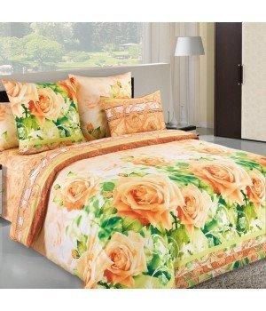 Постельное белье бязь Леди 1 желтое - 2 спальное, 2100Б