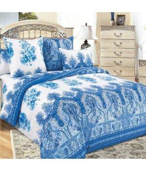 Постельное белье бязь Гжель 1 синее - 2 спальное, 2100Б