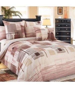 Постельное белье бязь Европа 2 коричневое - 2 спальное с европростыней, 3100Б