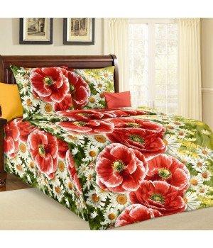 Постельное белье бязь Ассоль 1 зеленое - 1,5 спальное, 1100А
