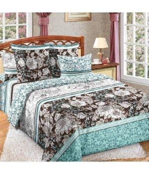 Постельное белье бязь Графика 2 голубое - 2 спальное с европростыней, 3100Б