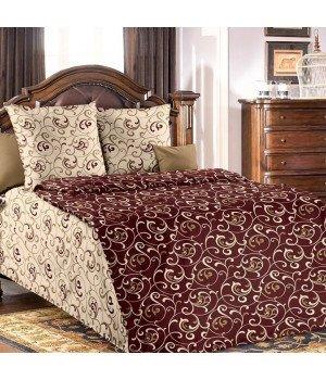 Постельное белье бязь Вензель 1 коричневое - 1,5 спальное, 1130А