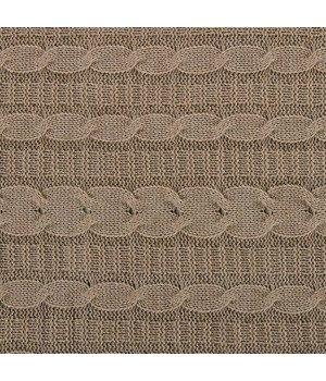 Плед вязаный Крем-брюле 140х180