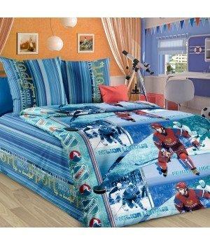 Постельное белье бязь Хоккей - 1,5 спальное, 1130А