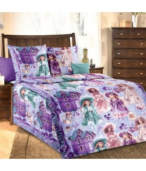 Постельное белье бязь Куклы - 1,5 спальное, 1100А