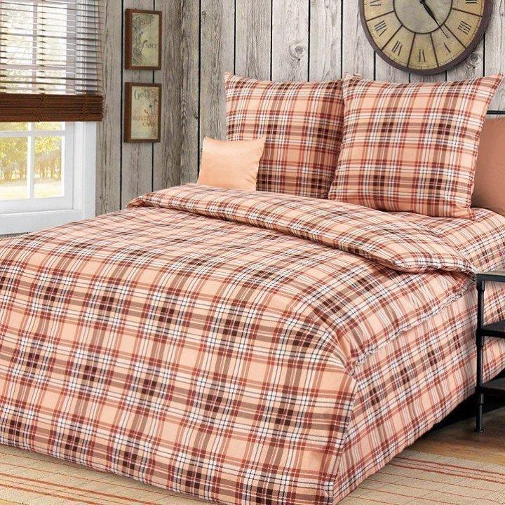 Постельное белье бязь Денди 6 коричневое - 1,5 спальное, 1100А