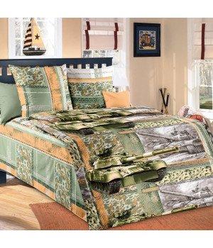 Постельное белье бязь Танк - 1,5 спальное, 1130А