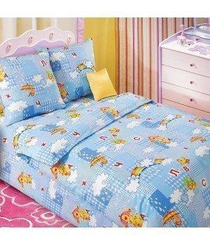 Постельное белье бязь Радуга 1 голубое - 1,5 спальное, 1100А