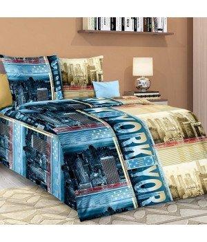 Постельное белье бязь Мегаполис - 1,5 спальное, 1100А