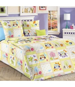 Постельное белье бязь Дорис 1 зеленое - 1,5 спальное, 1100А