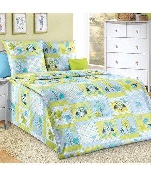 Постельное белье бязь Дорис 3 голубое - 1,5 спальное, 1100А