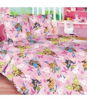 Постельное белье бязь Волшебницы 1 розовое - 1,5 спальное, 1100А