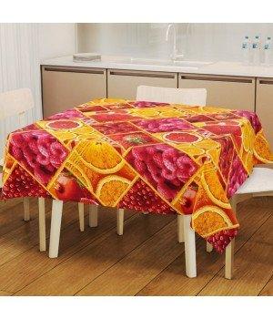 Набор для кухни Яркий вкус: скатерть рогожка с мво 145х150 + 2 полотенца 47х70