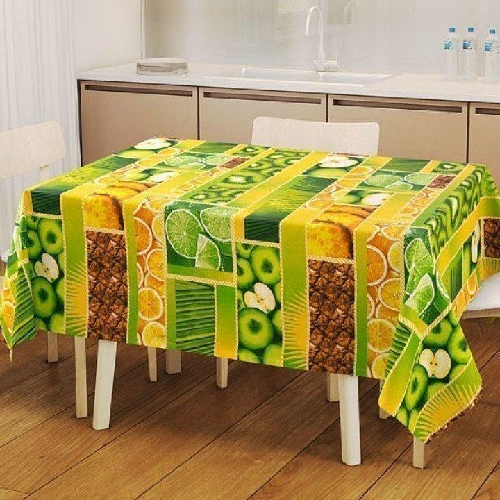 Набор для кухни Тропический остров: скатерть рогожка с мво 145х150 + 2 полотенца 47х70