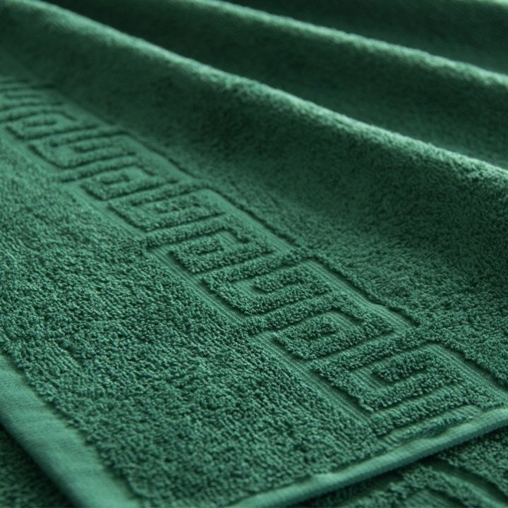 Полотенце махровое Темно-зеленое 50х85