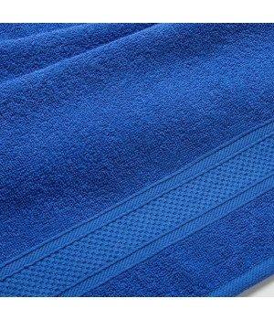 """Полотенце махровое """"УзТекс"""" Синее 100х180"""