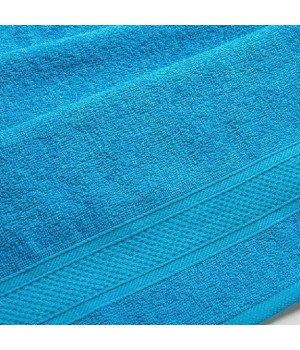 "Полотенце махровое ""УзТекс"" Голубое 100х180"