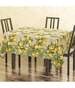 Скатерть рогожка Лимоны 145х120