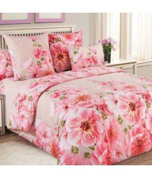 Постельное белье перкаль Миндаль 2 розовое - 1,5 спальное, 1200П