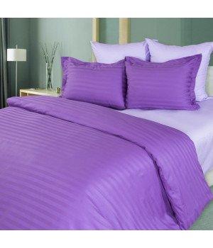Постельное белье Страйп-сатин Лаванда - 1,5 спальное, 1315S