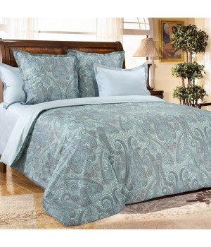Постельное белье из сатина Кашмир 2 зеленое - евро 1, 4343RL