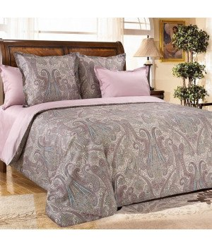 Постельное белье из сатина Кашмир 4 бордовое - 2 спальное, 2342RL