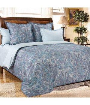 Постельное белье из сатина Кашмир 5 бирюзовое - 1,5 спальное, 1342RL