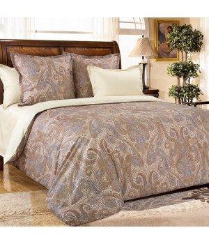 Постельное белье из сатина Кашмир 6 бежевое - 1,5 спальное, 1342RL