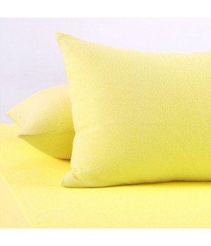 Наволочки махровые Желтые 70х70*2